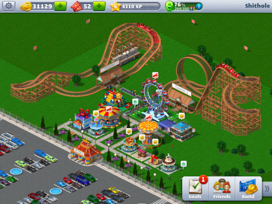 Roller Coaster Tycoon  Building Controls