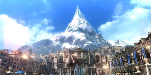 The city of Naotun and the sacred mountain Fimbulventr, whose significance is lost on me.